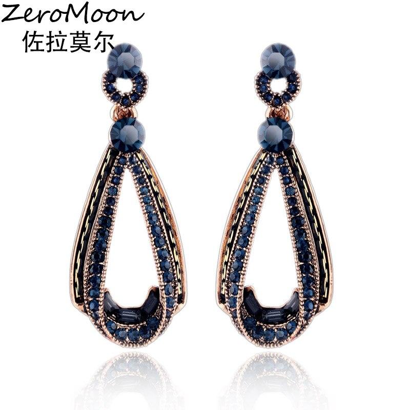 ZeroMoon Classic uhani kapljic za solzno kapljico Vintage za žensko - Modni nakit