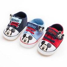 Disney Four Seasons 0-1 Baby Shoes Soft Cartoon Mickey Hook