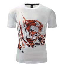 2017Hot Sale Brand New Fashion Summer Men T-shirt 3d Print tiger design Short-Sleeved Casual Tops Tees Fitness Compression Shirt