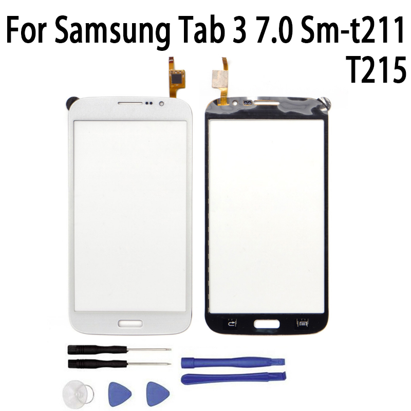 New Replacement <font><b>LCD</b></font> Front Touch Screen Panel Outer Glass Lens For <font><b>Samsung</b></font> Tab 3 7.0 <font><b>T211</b></font> Sm-T215 image