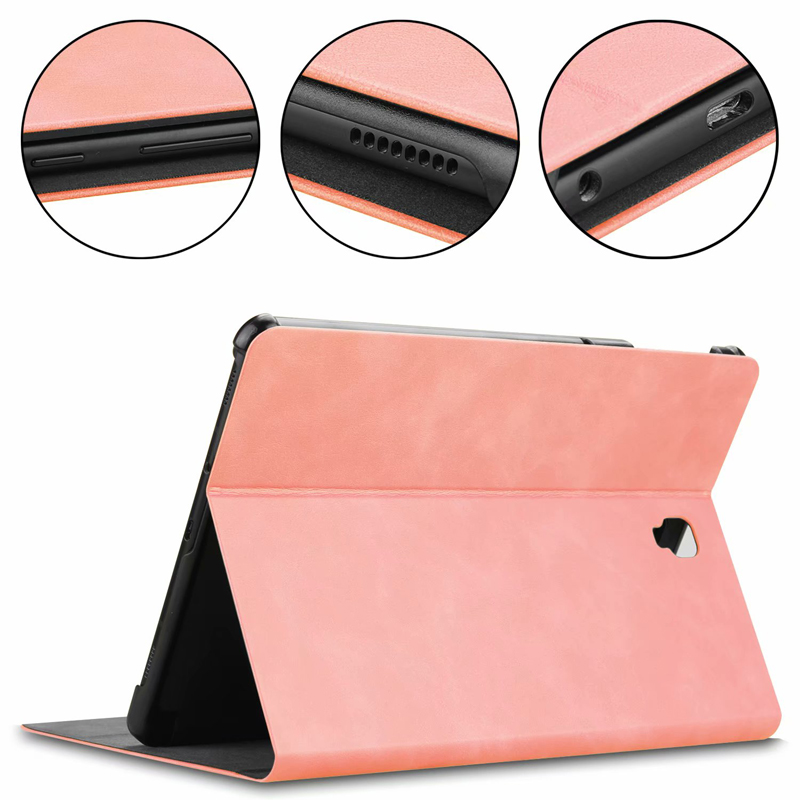 Kickstand Case For Samsung Galaxy Tab S4 10.5 With Touch Pen Holder SM-T830 T835 Smart Cover Pencil Slot Samsungtabs4 10.5