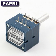 JAPAN ALPS RK27 Type 2*50K Round Shaft 6MM Stereo Volume Potentiometer LOG POT Attenuator For DIY Hifi Audio Tube AMP LOT/10PCS japan alps for motor potentiometer 4 joint b50k for harman caton avr40 amplifier sound volume potentiometer