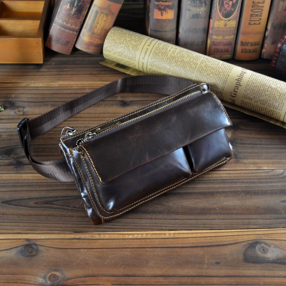Multifuncional hombre Monedero de cuero genuino Messenger Bag bolso - Bolsos - foto 6