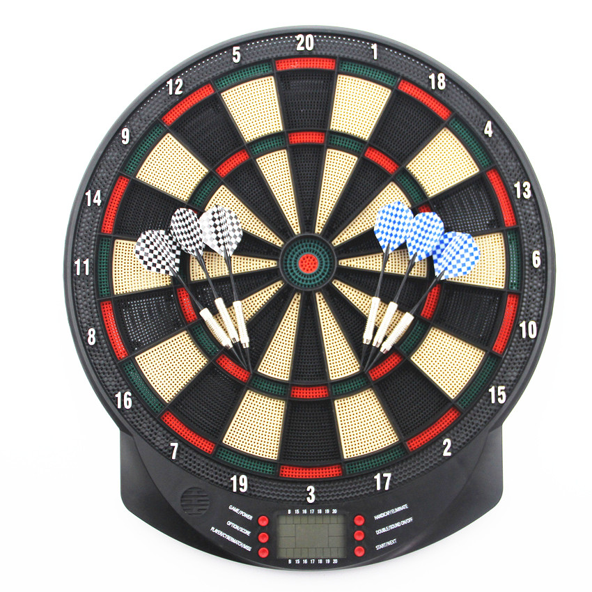 High Quality Electronic Dartboard Target Dart Game Set for Adult Playing Dart Game Fitness Equipment for Indoor Gameplaying 18 inch professional electronic dart board set with 6pcs darts soft tip dartboard for indoor game english voice scorer