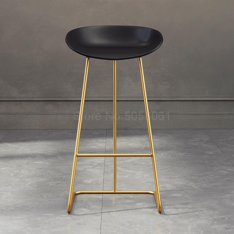 Скандинавский барный стул из кованого железа креативный простой барный стул кафе Золотой барный стул передний высокий стул