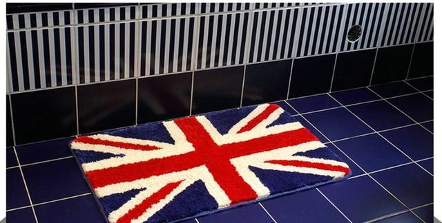 2 Piece Great British Flag Rug England Non Slip Water Absorbing Doormat