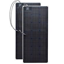 2 ETFE flexible solar panel 20.5v 100w Black Class-A monocrystalline cell 200W 12V/24v dc waterproof panels 100watt