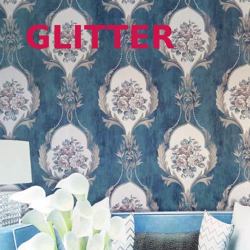 Amerikanischen Blaue Blume Tapete Retro Style 3d Wallpaper ...