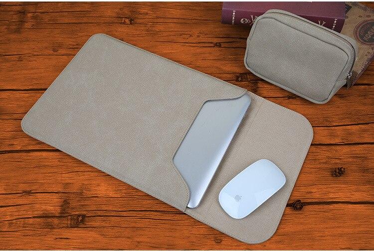 Новая сумка для ноутбука с эффектом потертости для Macbook Air 13 Pro retina 11 12 14 15 чехол для Xiaomi 13,3 15,6 Модный чехол для ноутбука - Цвет: Khaki sets