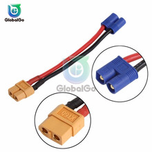 1 pcs XT60 EC2 Banana Male to Female Plug Connector For RC Lipo Battery Connector Adapter