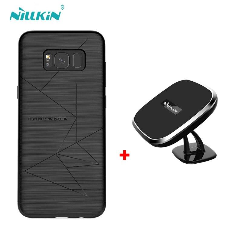 NILLKIN magnétique sans fil boîtier récepteur et qi chargeur sans fil pad Portable pour galaxy S10 Plus S10 étui pour galaxy s9 s9 + s8
