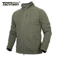 TACVASEN Spring Fleece Jacket Men Military Thin Tactical Jacket Coat Autumn Breathable Army Clothing Combat Jackets