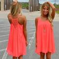 Sexy vestido de verano vestido de las mujeres más el tamaño 2016