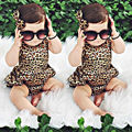 Leopard Bodysuit Baby Clothing Cool Baby Girls Original Bloomer Suit Set Body Bebe jumpsuit Summer Style