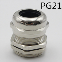 1piece  PG21 Nickel Brass Metal Silica gel Waterproof Cable Glands connector Apply to Cable 13-18mm