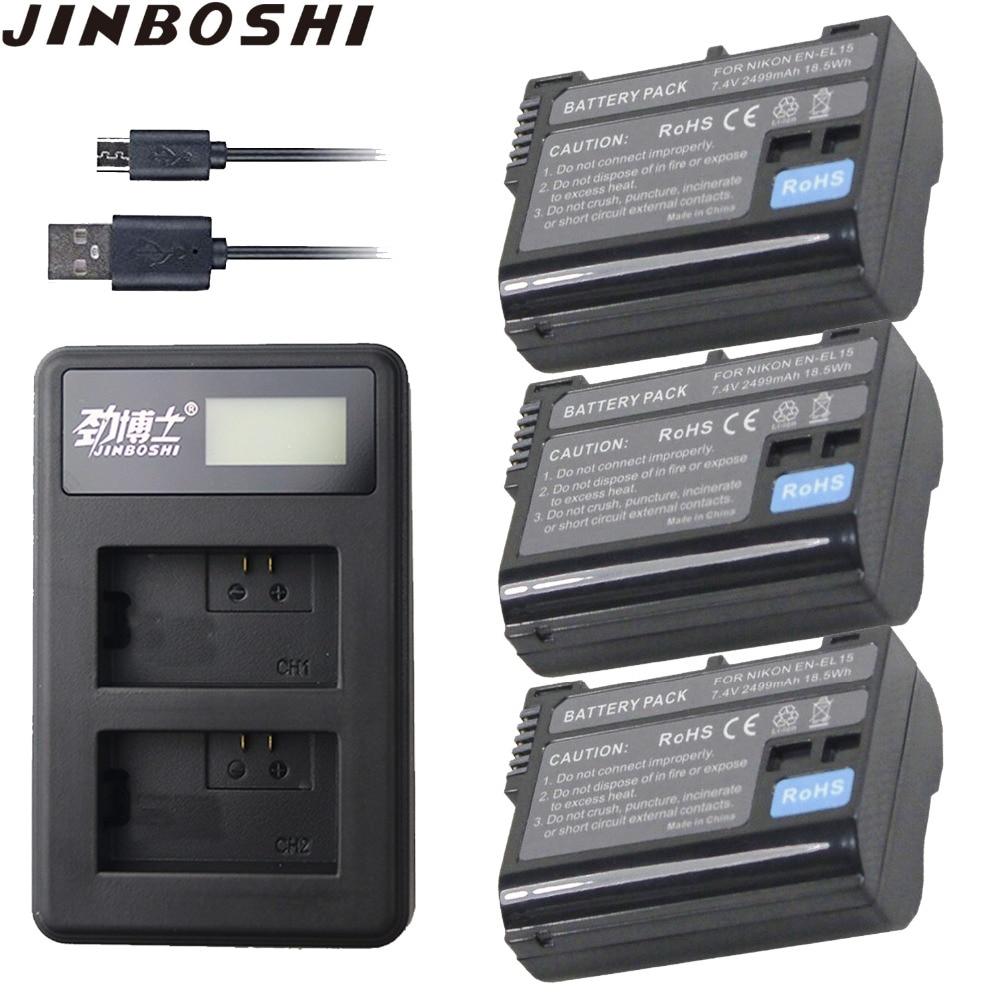 3 X En-el15 En El15 Digital Batterie Für Nikon D7200 Slr Kamera Batterie D7000 D7100 D7500 D610 D750 D810 D850 Z6 Z7 D500 Tracking Stromquelle Digital Batterien