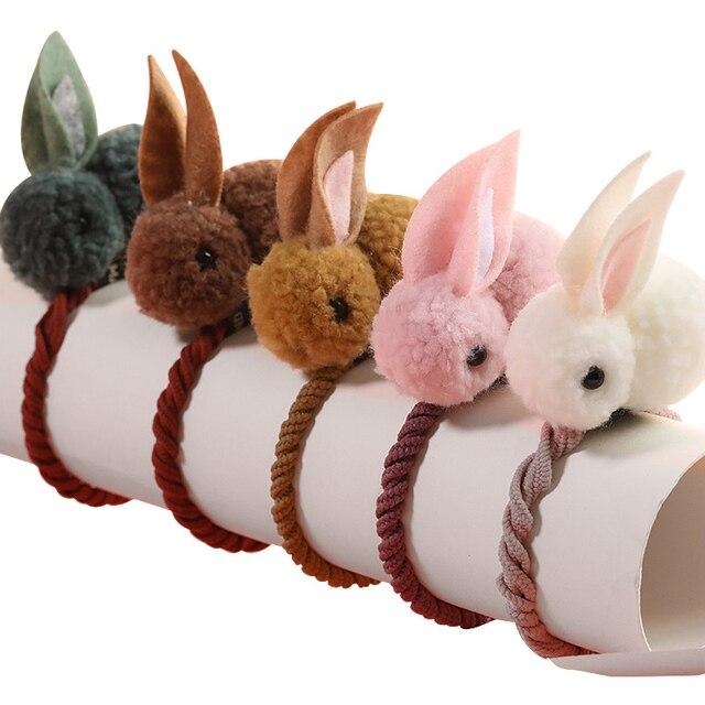 New Cute  Animals Rabbit  Style Hair Bands Felt Three-Dimensional Plush Rabbit Ears Headband For Children Girls Hair Accessories 1