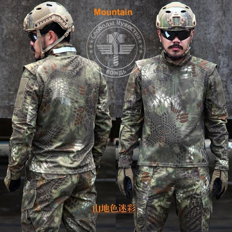 Kryptek noir US militaire Camouflage ensembles grande taille hommes uniformes militaires costume tactique qualité en plein air Jungle chasse Camou ensemble - 5