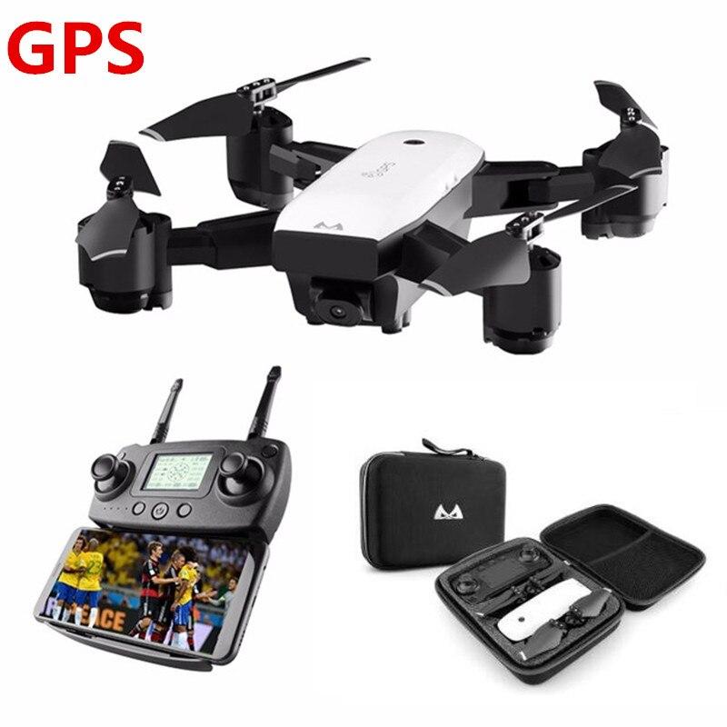 Профессиональный Камера Drone двойной 1080 P GPS Квадрокоптер FPV Радиоуправляемый Дрон S20 с видео и вернуться домой складной Радиоуправляемый ква...