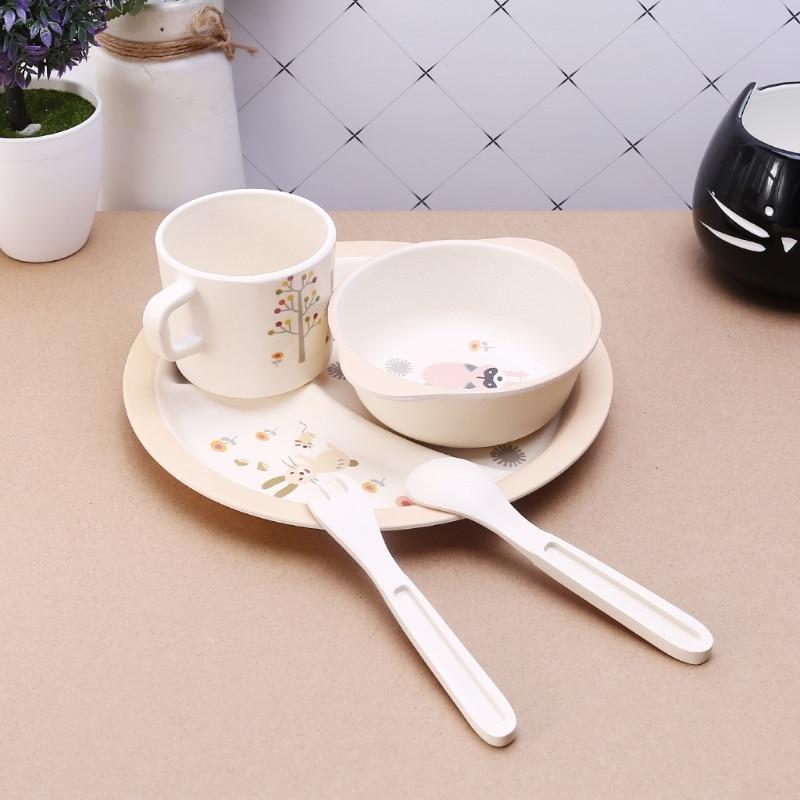 5 Stucke Baby Futterung Schussel Platte Gabeln Loffel Tasse Geschirr
