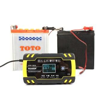 12V 24V naprawy impulsów ładowarka z wyświetlaczem LCD do motocykli i samochodów ładowarka baterii AGM ołowiu kwasu ładowarka baterii