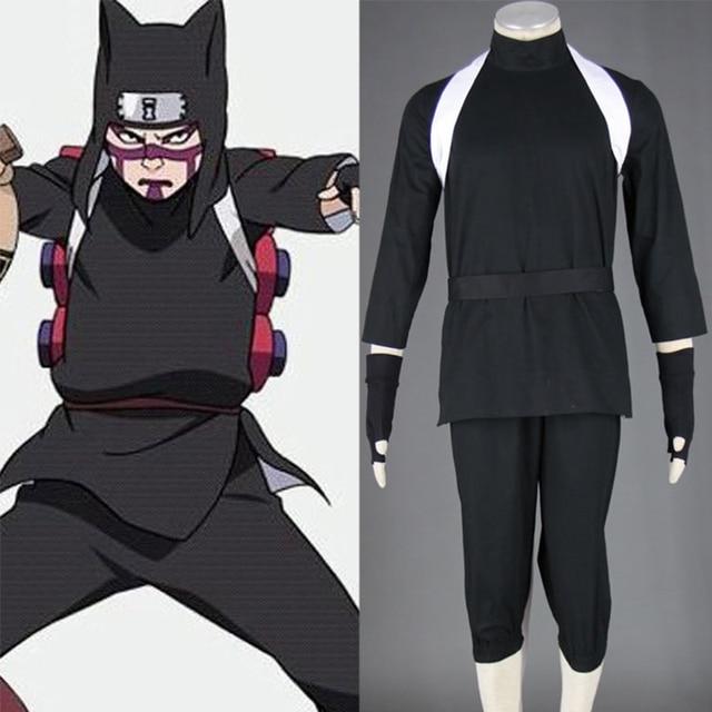 Naruto Shippuuden Kankuro Cosplay Costume XS-XXXL Men Halloween Party  Costumes Tops+Pants+