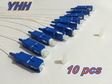 10 pcs SC/UPC 0.9mm PVC SM(9/125)-White-1m / Optical Fiber Pigtail