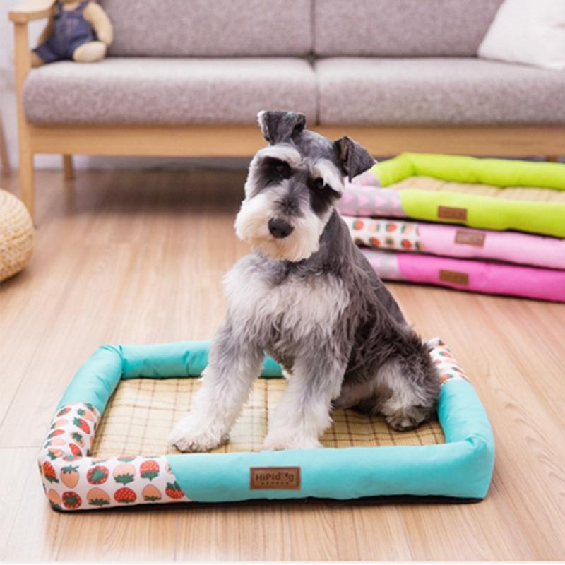 2018 nouveau mignon Cartton confortable chiot lit canapé tapis été chien lit tapis Oxford tissus imperméable respirant Pet chenil 4 couleurs