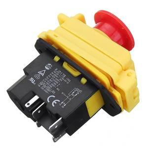 Image 3 - Kedu kjd17 gf start stop switch nvr (2hp/16a) & parada de emergência magnética impermeável 4 pinos sem interruptor de botão de liberação de volts