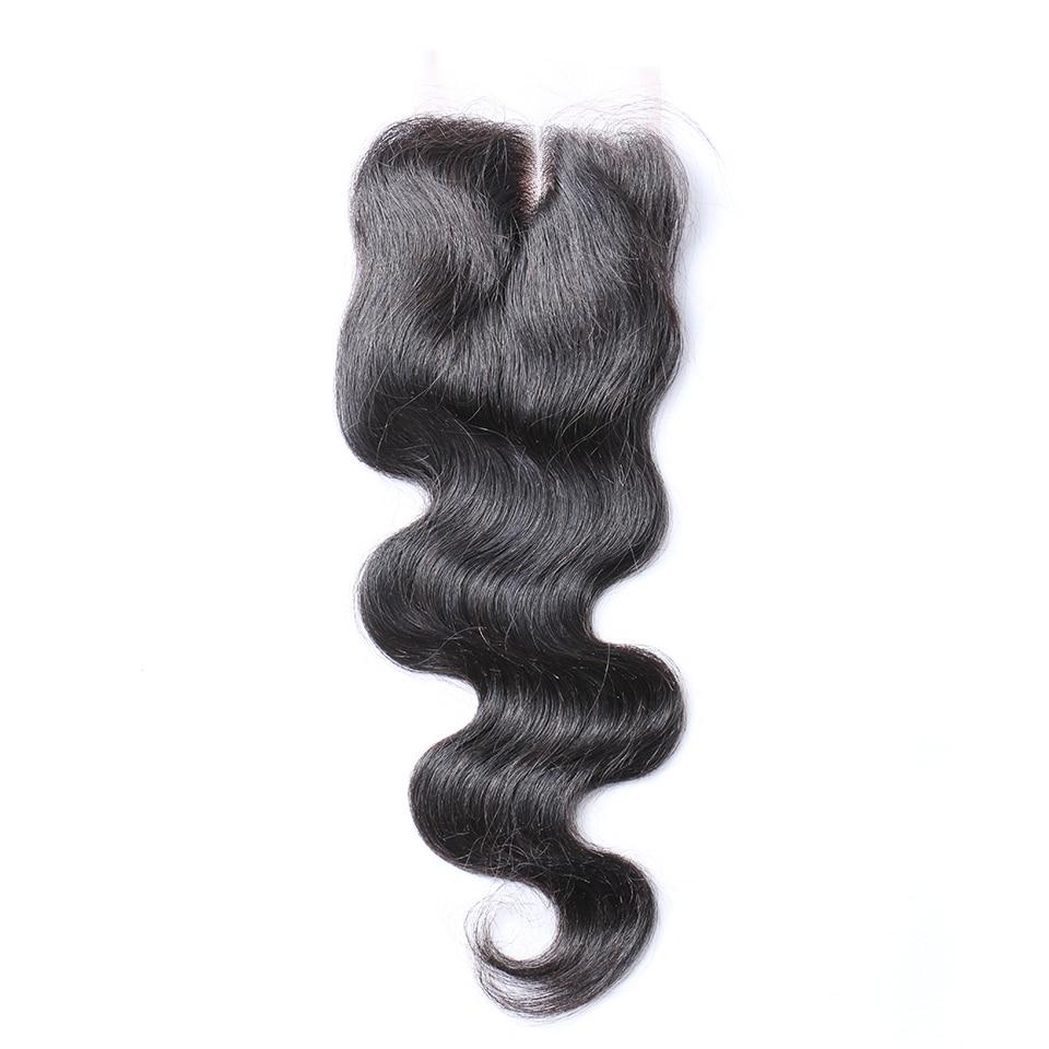 Brazilian Human Hair Closure Mid-part Body Wave