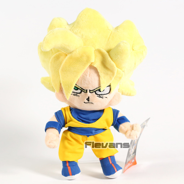 Anime Dos Desenhos Animados Dragon Ball Z Super Saiyan Goku Pingentes de Pelúcia Macia Brinquedos de Pelúcia Bonecas 10 pçs/lote 24 cm