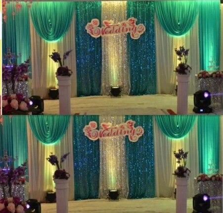 cheap white font b wedding b font font b backdrop b font curtain with swag font