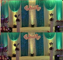cheap white wedding backdrop curtain with swag wedding drapes backdrop wedding reception with sequin