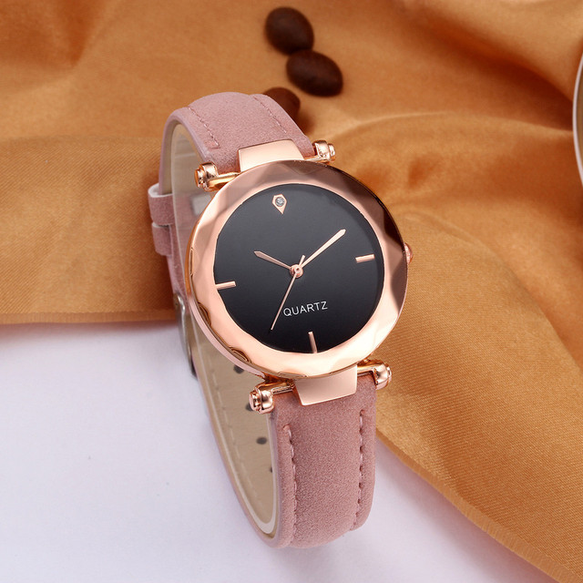 montre femme 2018 Top Brand Women Bracelet Watch Contracted Leather WristWatches