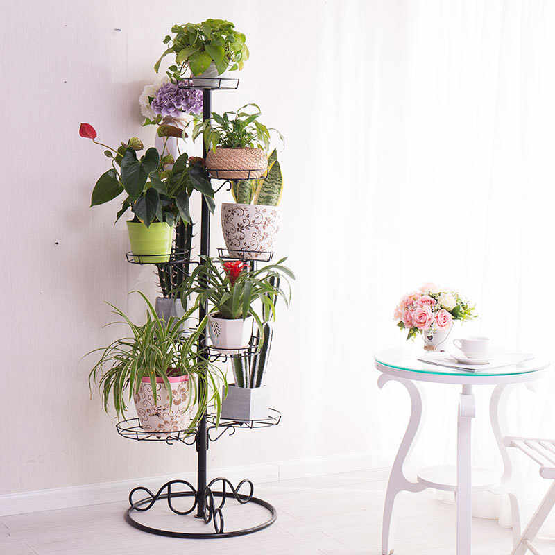 Garden Plant Flower Display Rack Planter Flower Pot Holder Plants Stand Shelves Indoor Outdoor Shelf Home Decor DQ1706/-1