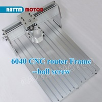 EU Delivery! 6040 CNC router Frame milling machine mechanical kit ball screw Aluminum clamp can interchangeable 80mm