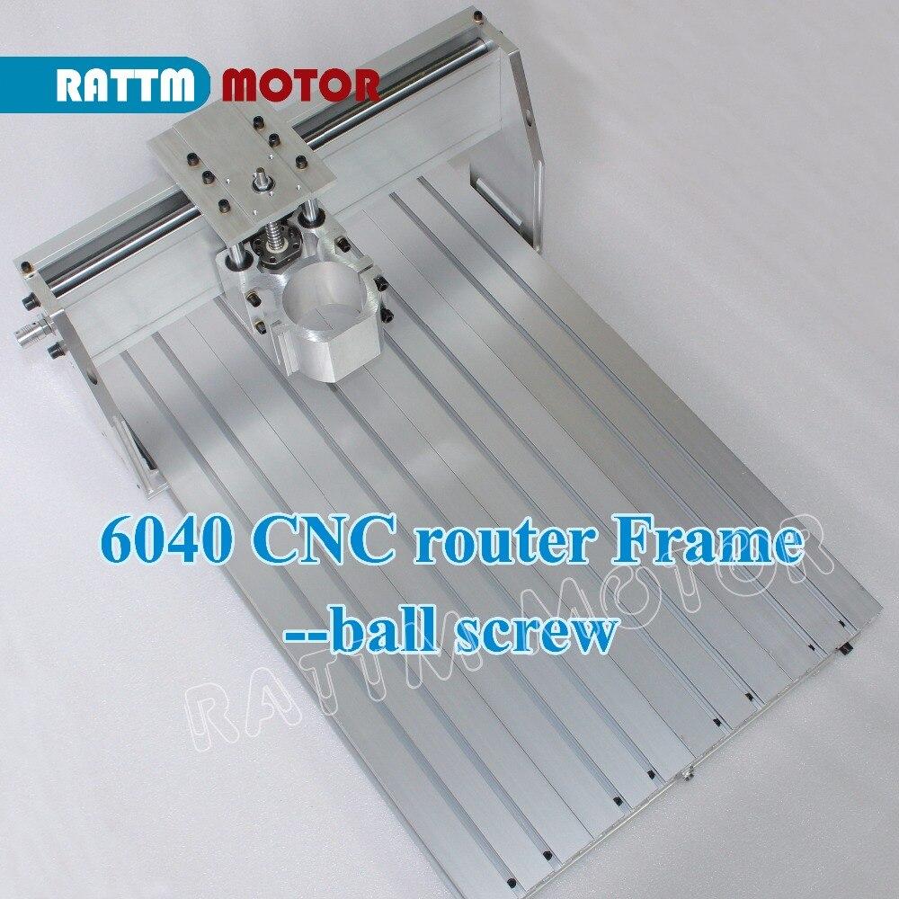 L'UE Livraison! 6040 CNC routeur cadre fraiseuse kit mécanique vis à billes pince en aluminium peut interchangeable 80mm