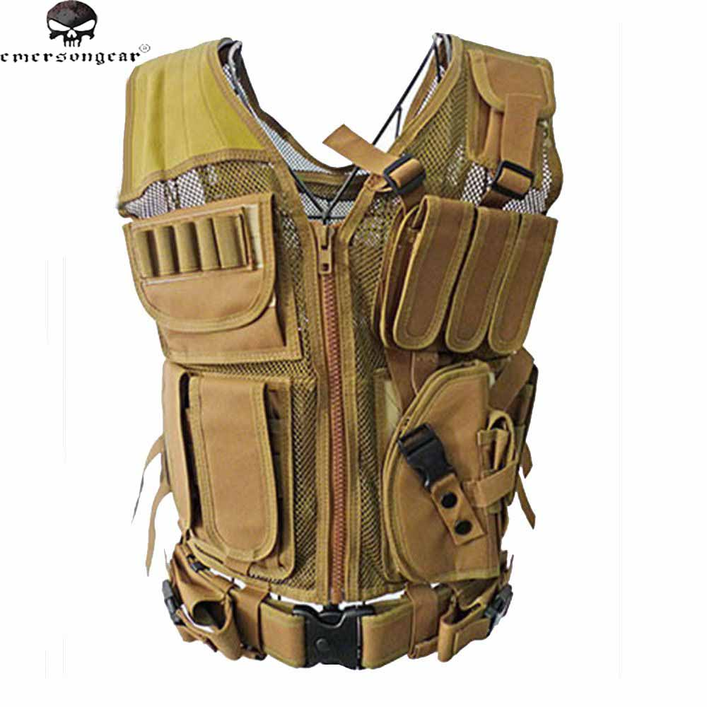 Tactical Hunting Vest CS Field Outdoor Ultra-light Breathable Combat Training Vest Adjustable 600D Encryption Polyester the most light combat boots single ultra light ultra fiber super breathable size38 45 ao3