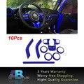 Для Wrangler JK 11-16 2DR ABS Chrome Руль Отделка Кондиционер Vent Интерьера Аксессуары Дверная Ручка Крышки комплект 10 Шт.