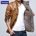 Мужские Зимние Кожаные Куртки Пальто Новый 2017 Моды Плюс Бархат Pu Кожаная Куртка Мужчины Бренд Одежды Кожаные Куртки Мужчины Пальто