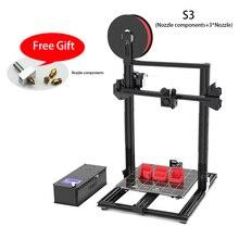 2019 Best New Machine R3D S3 DIY 3D Printer Kit 315 * 415mm Big impression with flexible,TPU,PLA 1,75mm 0.4 mm Extruder