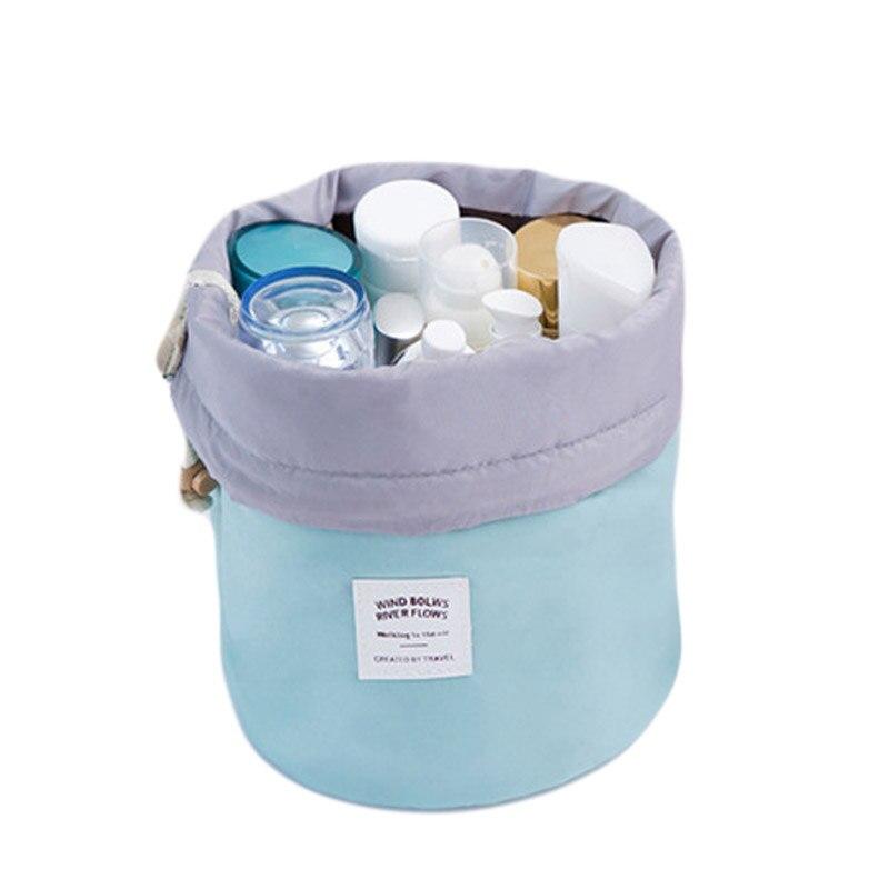 Polyester Travel Cosmetic Storage Bag Toiletry Makeup Storage Case Desktop Bathroom Organizer Women Wash Organizer Pouch