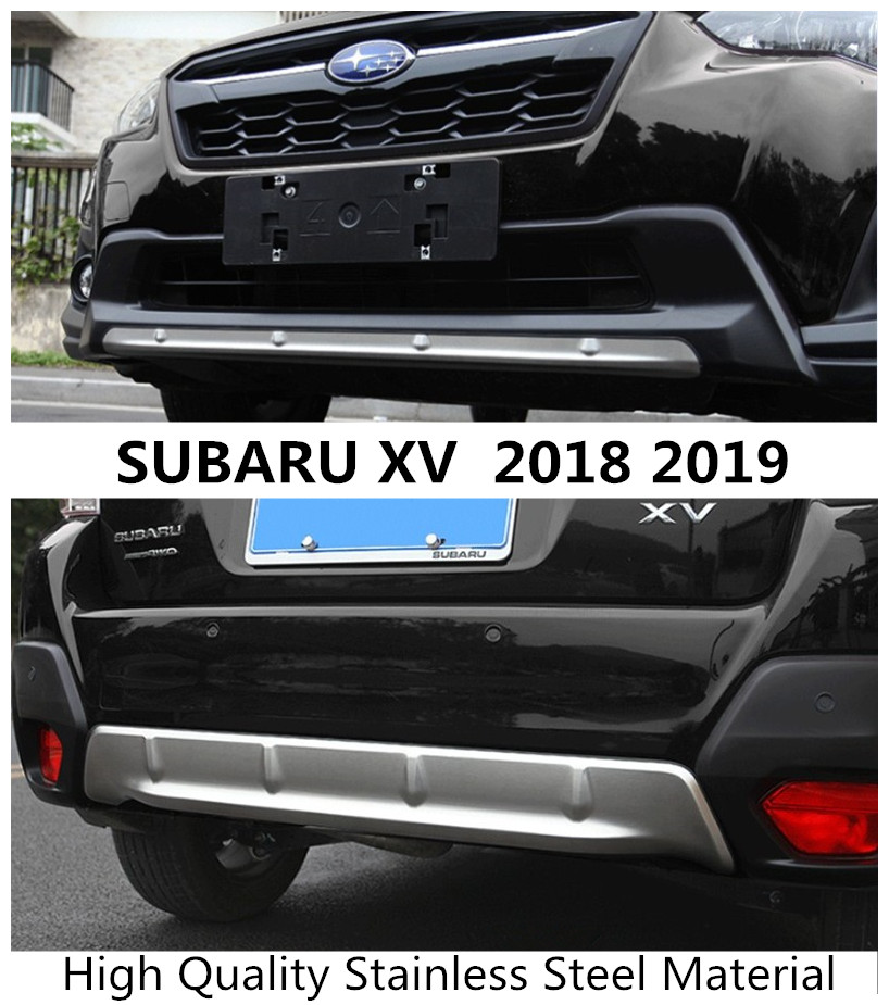 US $144 5 15% OFF For SUBARU XV 2018 2019 BUMPER GUARD Plate Front Rear  Diffuser Protecto Skid Plates High Quality Stainless Steel Auto  Accessorie-in