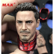 High Quality 1:6 Scale Male Head Sculpt Captain America Tony Stark Head fit 12