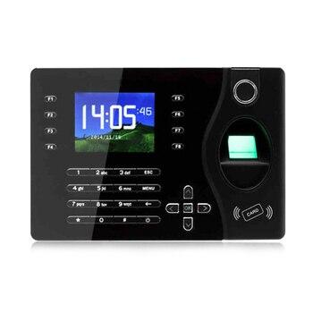 Biometric Fingerprint Attendance Machine 2.4 Inch Usb Fingerprint Scanner Time Clocker Tcp/Ip Employee Recorder Eu Plug