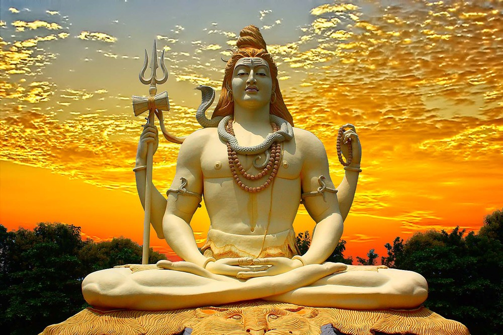 lord shiva and sunset sky 5 Sizes Silk Fabric Canvasfamily art silk poster canvas painting wall decor