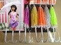 2016 новый 2 Шт. Случайно Выбрать Кукла Аксессуары Ручной Работы кукла аксессуары для барби, Куклы Пластиковые Кружева Зонтик Для куклы барби
