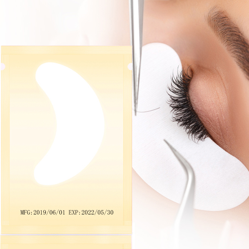 100pairs pack New Paper Patches Eyelash Under Eye Pads Lash Eyelash Extension Paper Patches Eye Tips Sticker Wraps Make Up Tools in False Eyelashes from Beauty Health