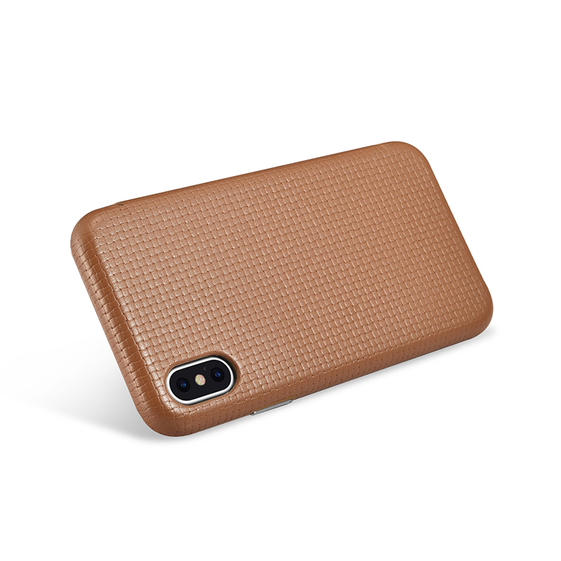 icarer for iPhone Apple X Case Curved Screen Flip Cover for iPhone XS Skin Genuine Leather Cowhide Shockproof Back Phone Case (16)