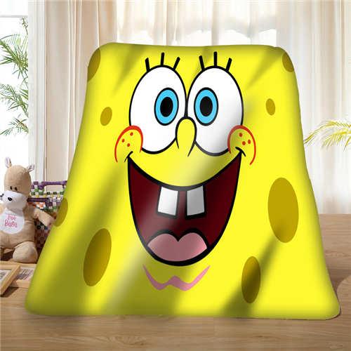 Couverture en molleton souple personnalisée | power_up_spongebob (1), décoration pour ta photo, canapé de chambre à coucher, taille Multi, #929-02-001-62